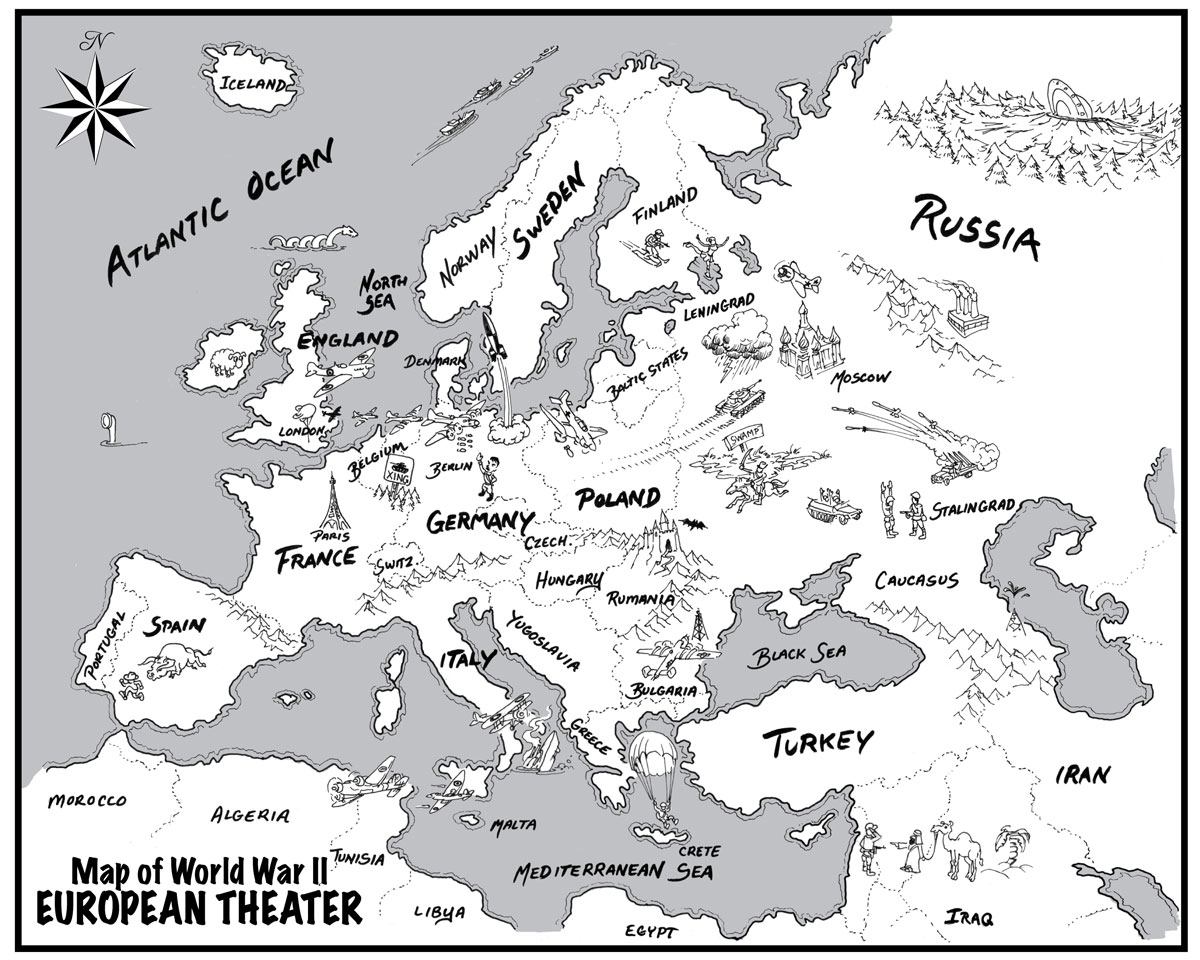 Blank Map Of Europe After World War 2 - #LLLL