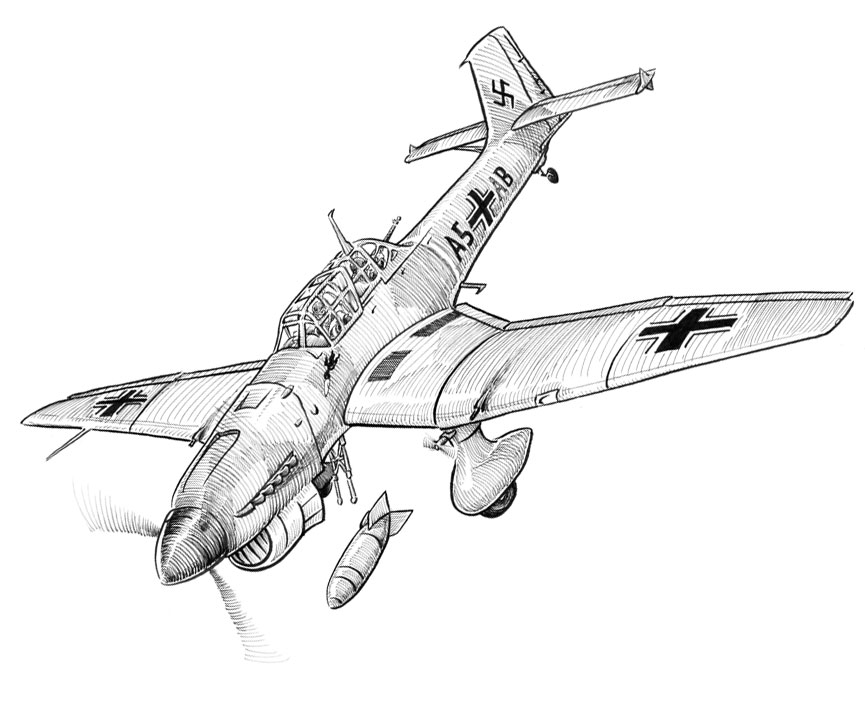 Image Result For Ju Stuka Coloring Pages